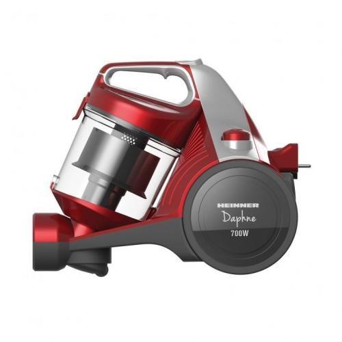 Aspirator fara sac Heinner HVC-MC700RD, 700 W, Filtrare ciclonica, Filtru Hepa 12, Rosu imagine techstar.ro 2021