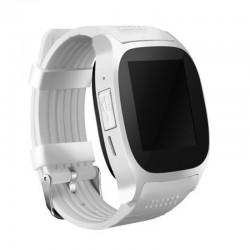 Ceas Smartwatch Techstar® T8 Alb, Cartela SIM, 1.54 inch, Apelare, Radio FM ,Alerte Sedentarism, Hidratare, Bluetooth 4.0