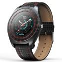 Ceas Smartwatch Techstar® V10 Rosu, Carbon Metal, Cartela SIM, 1.22 inch, Alerte Sedentarism, Hidratare, Bluetooth 4.0
