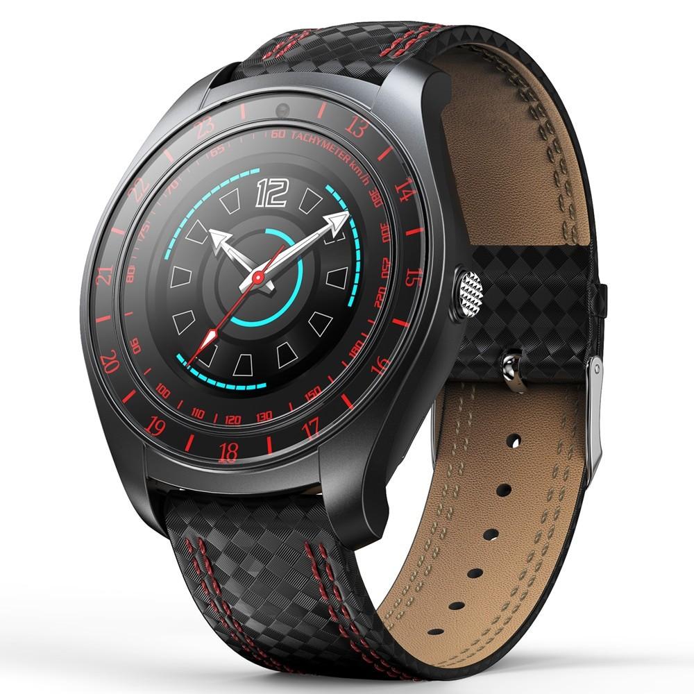 Ceas Smartwatch Techstar® V10 Rosu, Carbon Metal, Cartela SIM, 1.22 inch, Alerte Sedentarism, Hidratare, Bluetooth 4.0 poza 2021