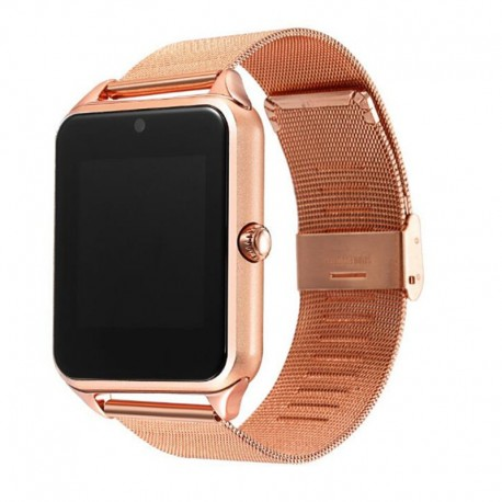 Ceas Smartwatch Techstar® Z60 Gold, Cartela SIM, 1.54 inch, Apelare, Radio FM ,Alerte Sedentarism, Hidratare, Bluetooth 4.0
