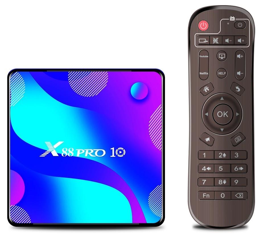 Media player TV Box X88 PRO 10 Android 10, 4GB RAM,64GB ROM, Mini PC 4K, Netflix subtitrat, HBO GO imagine techstar.ro 2021