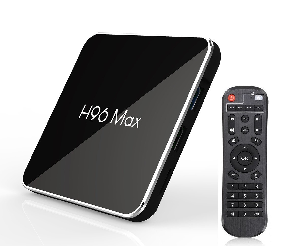 Media player TV Box H96 MAX X2 Android 9, 4GB RAM 64GB ROM WiFi dual band 2.4/5 GHz Mini PC 4K Netflix HBO GO imagine techstar.ro 2021