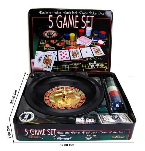 Joc 5 in 1 Ruleta, Poker, Black Jack, Craps, Poker Dice imagine techstar.ro 2021