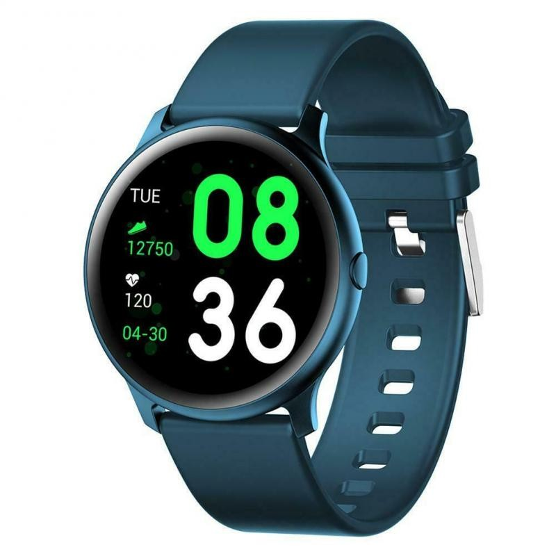 Ceas Smartwatch Techstar® KW19 Albastru, 1.3 inch HD Rotund, Monitorizare Cardiaca, Tensiune. Oxigenare, Bluetooth 4.0 poza 2021