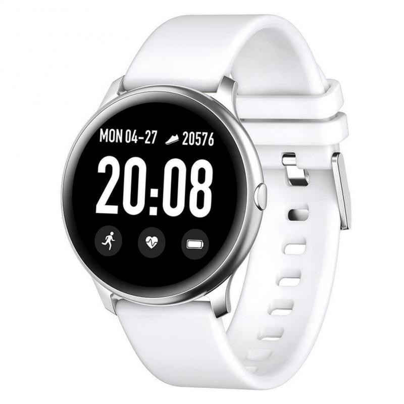 Ceas Smartwatch Techstar® KW19 Alb, 1.3 inch HD Rotund, Monitorizare Cardiaca, Tensiune. Oxigenare, Bluetooth 4.0 imagine techstar.ro 2021