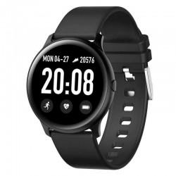 Ceas Smartwatch Techstar® KW19 Negru, 1.3 inch HD Rotund, Monitorizare Cardiaca, Tensiune. Oxigenare, Bluetooth 4.0