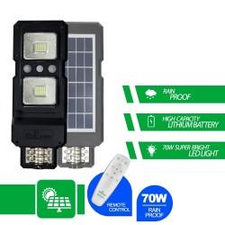 Lampa Stradala Cu Panou Solar 70 W Cu Senzor De Miscare , Si Senzor De Lumina