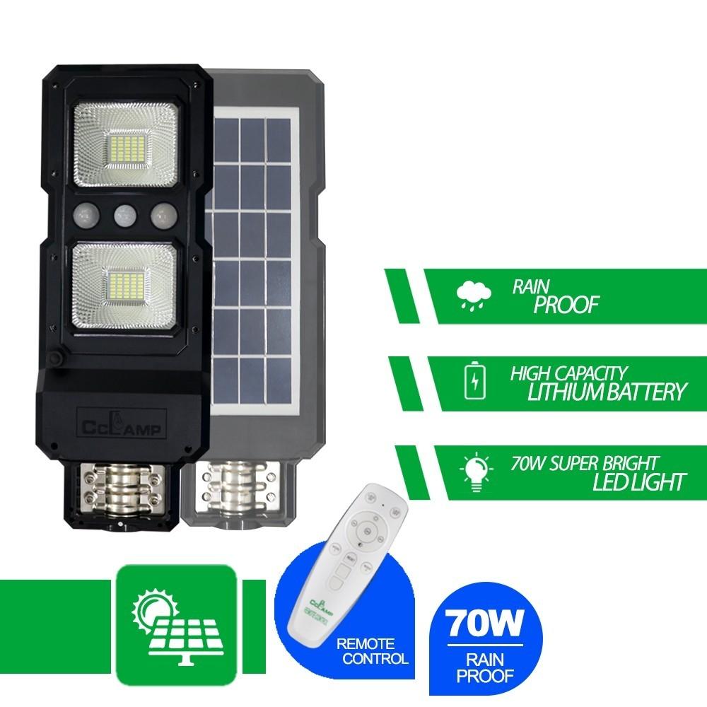 Lampa Stradala Cu Panou Solar 70 W Cu Senzor De Miscare , Si Senzor De Lumina imagine techstar.ro 2021