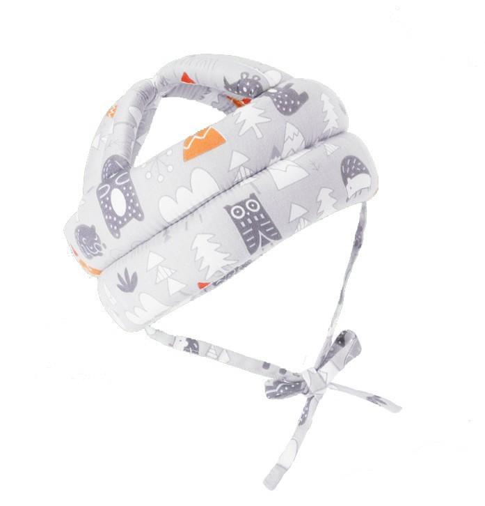 Casca protectie copii 6-36 luni, bumbac plus spuma, ajustabila, 65grame, gri imagine techstar.ro 2021