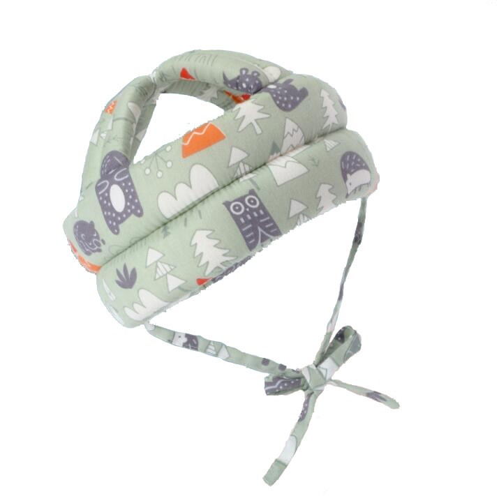 Casca protectie copii 6-36 luni, bumbac plus spuma, ajustabila, 65grame, verde imagine techstar.ro 2021