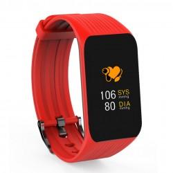 Bratara Fitness Techstar® K1 Rosu, 0.66 inch OLED, Alerte, Social Media, Monitorizare Cardiaca, IP65, Bluetooth 4.0