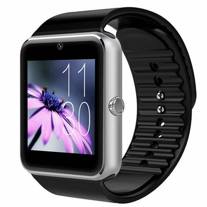 Smartwatch U-Watch GT08 Bluetooth Negru-Argintiu, Compatibil SIM, MicroSD poza 2021