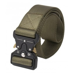 Curea tip militar, verde, ajustabila, foarte rezistenta, cupla rapida din aliaj special, carabina dedicata