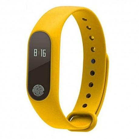 Bratara Fitness Techstar® M2 Galben, 0.42 inch OLED, Alerte, IP67, Monitorizare Cardiaca, IP65, Bluetooth 4.0