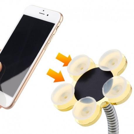 Suport flexibil pentru telefon sau tabletă, cu ventuze. + CADOU