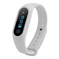 Bratara Fitness Techstar® M2 Alb, 0.42 inch OLED, Alerte, IP67, Monitorizare Cardiaca, IP65, Bluetooth 4.0