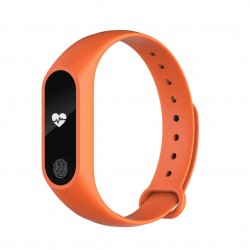 Bratara Fitness Techstar® M2 Orange, 0.42 inch OLED, Alerte, IP67, Monitorizare Cardiaca, IP65, Bluetooth 4.0