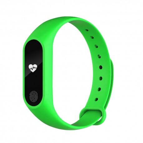 Bratara Fitness Techstar® M2 Verde, 0.42 inch OLED, Alerte, IP67, Monitorizare Cardiaca, IP65, Bluetooth 4.0