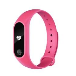 Bratara Fitness Techstar® M2 Roz, 0.42 inch OLED, Alerte, IP67, Monitorizare Cardiaca, IP65, Bluetooth 4.0