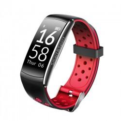 Bratara Fitness Techstar® Q8S Rosu, 0.96 inch IPS, Alerte, Monitorizare Cardiaca, Tensiune, Oxigenare, Bluetooth 4.0