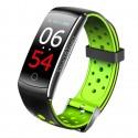 Bratara Fitness Techstar® Q8S Verde, 0.96 inch IPS, Alerte, Monitorizare Cardiaca, Tensiune, Oxigenare, Bluetooth 4.0