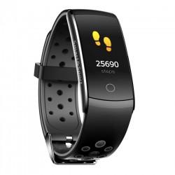 Bratara Fitness Techstar® Q8S Negru, 0.96 inch IPS, Alerte, Monitorizare Cardiaca, Tensiune, Oxigenare, Bluetooth 4.0
