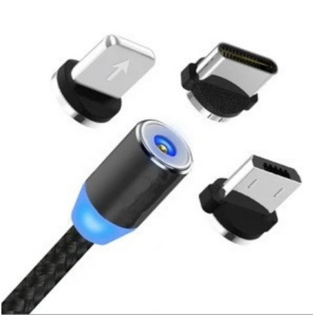 Cablu magnetic 3 in 1 incarcare si transfer date telefon