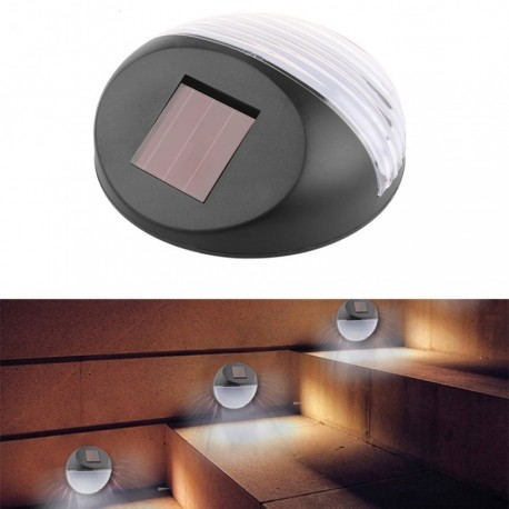 Set 4 lampi solare de perete cu 2 led-uri