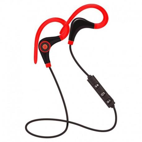Casti Wireless Techstar® BT200, Bluetooth 4.1 ,HD Audio, Rezistente la Transpiratie, 500mAh, Comenzi pe Fir, Rosu