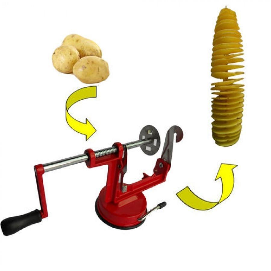 Aparat pentru taiat cartofi in spirala spiral potato slicer imagine techstar.ro 2021