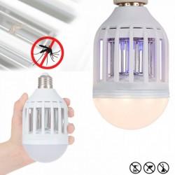 Bec LED 2 in 1 cu lampa UV insecte 1+1 gratis