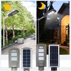 Lampa stradala 60W cu panou solar, acumulator, senzor de miscare,suport de prindere inclus