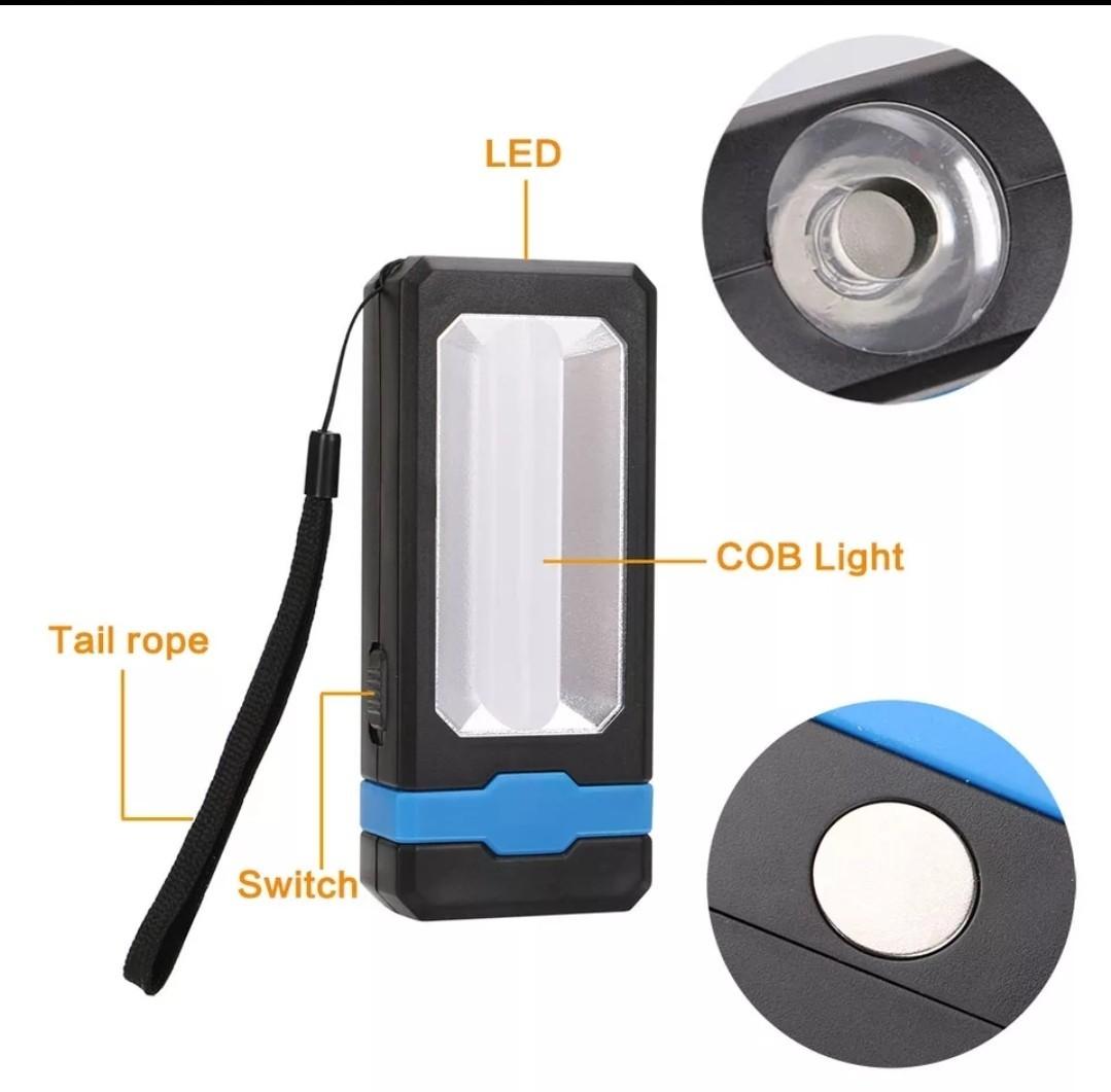 Lanterna de lucru DUAL LED 3W 220lm, lampa portabila cu acumulator + CADOU imagine techstar.ro 2021