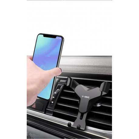 Suport auto ventilatie cu clips pentru ventilatie Gravity Black + CADOU