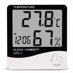 Ceas Digital Cu Termometru Si Higrometru Ecran LCD HTC-1