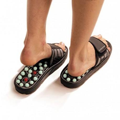 Papuci de reflexoterapie cu arcuri de masaj suspendate