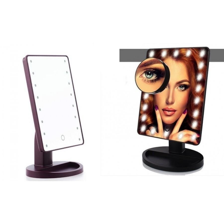 Oglinda cu LED si touch pentru machiaj imagine techstar.ro 2021