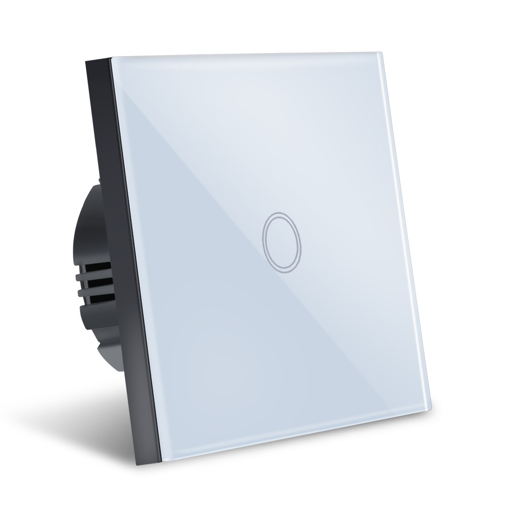 Intrerupator Smart Touch Techstar®, Wireless 2.4GHz, Sticla Securizata, Design Modern, Iluminare LED, 1 Faza, Alb imagine techstar.ro 2021