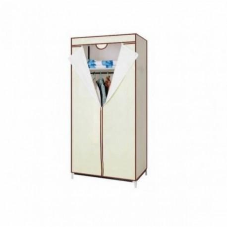 Dulap textil portabil pentru depozitare, cu cadru metalic dimensiune 75 x 45 x 160cm