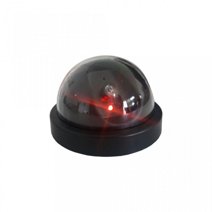 Camera supraveghere falsa Dome, cu led rosu, aprindere intermitenta imagine techstar.ro 2021