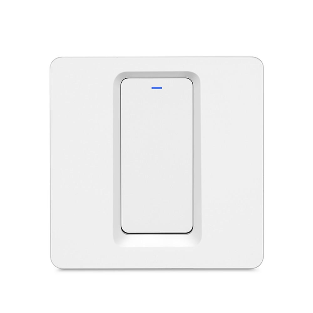 Intrerupator Smart Techstar®, Wireless 2.4ghz, Button Cu Revenire, Design Classic, Iluminare Led, 1 Faza, Alb