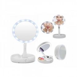 Oglinda de machiaj cu 2 fete Iluminare Circulara LED Ajustare Unghi Inclinare