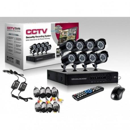 Kit de supraveghere CCTV 8 camere, HDMI, infrarosu, vizualizare de pe internet, calculator, telefon