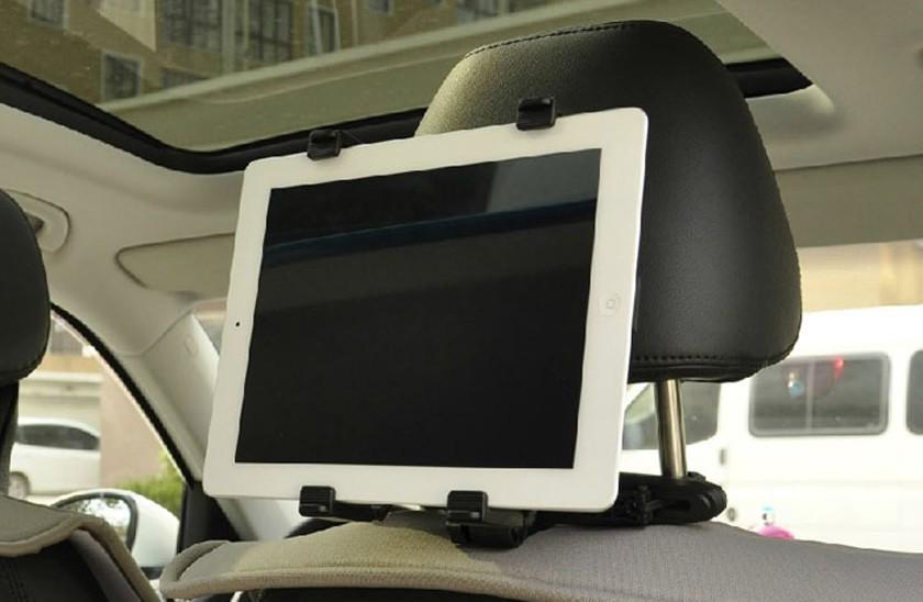 Copiii pot privi filme în mașină - Suport auto de tabletă - cu mecanism de fixare pe tetieră + CADOU imagine techstar.ro 2021