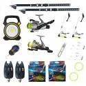 Pachet pescuit sportiv cu 2 lansete 3m Ultra Carp, 2 mulinete, proiector si accesorii