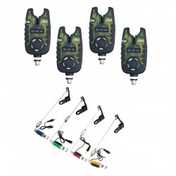 Kit 4 Senzori EastShark Crapro Camouflage TLI-22 cu 4 Swingeri Cilindrici pe 4 culori