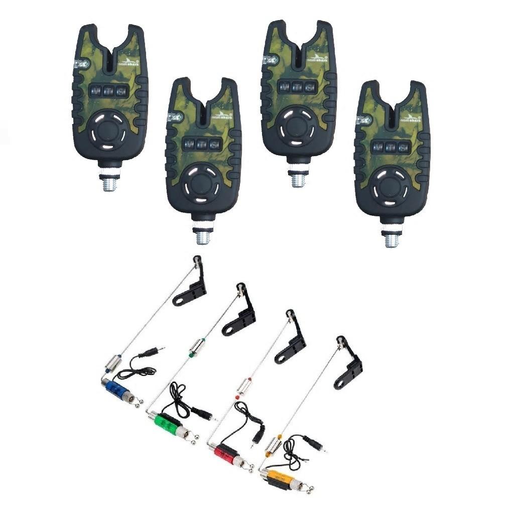 Kit 4 Senzori EastShark Crapro Camouflage TLI-22 cu 4 Swingeri Cilindrici pe 4 culori imagine techstar.ro 2021