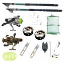 Kit pescuit sportiv cu doua lansete 2.7m EastShark, doua mulinete Cobra si accesorii
