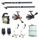 Set pescuit sportiv 2 lansete Ultra Carp 3m, proiector solar, 2 mulinete, 2 senzori cool angel, swingeri si ju